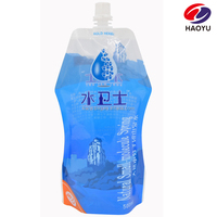 16oz 500ml custom shape stand up mineral water pouch with spout