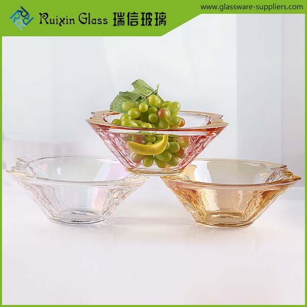 OEM handmade glass bowl,crystal glass dessert bowls for promotion