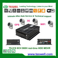 Hot sale HDD 8CH 960H 3g mobile dvr wih gps wifi function