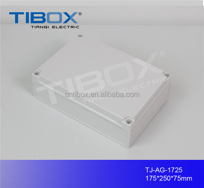 TIBOX hot sale high quality ABS plastic waterproof knockout switch junction cable gland box enclosure housing 175X250X75mm