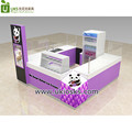 Nice purple rolled ice cream kiosk, roll ice cream mall shop design