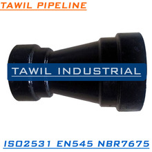 TAWIL EN545 EN598 DCI double socket reducer for Sewage drainage water Pipeline