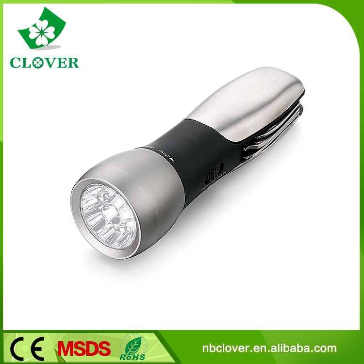 High power 9 White+1 Red led multi-function brightest led flashlight