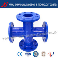 All flanged cross DN300 pipe fitting