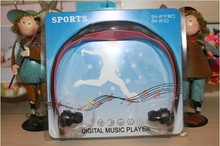 sport mp3 music player manual with TF card slot headset mp3 player wireless