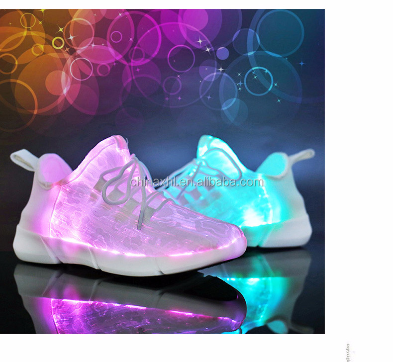USB Charging led light up shoes Light Up Running Shoe With Optical