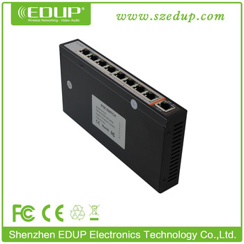 8 port PoE switch 48V/24V power switch POE supporting 802.3af/at IP camera WiFi