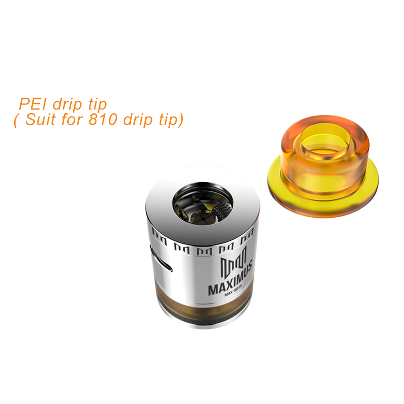 Electronic Cigarettes Vape Maxiums Max RDTA with PEI Drip Tip Magenetic