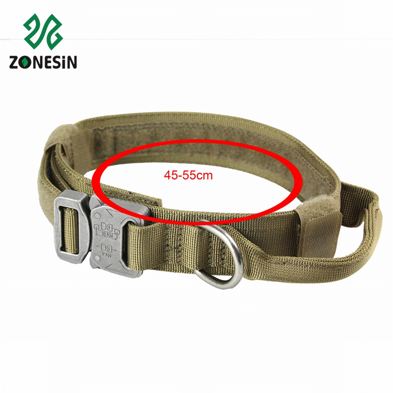 Top Quality Quick Release Adjustable Elastic Nylon Military Pet Dog Training Leashes Collars