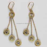 2015 Latest Fashion Sex New Design Antique Brass Kashmiri Jhumka Earrings