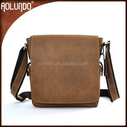 Men shoulder messenger real leather bags