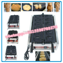 Hong kong new style commercial waffle maker, waffle making machine with vertical cartoon doll