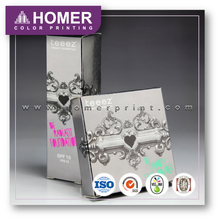 Specialized Classic Color Cosmetic Metallic Packaging Box with Window