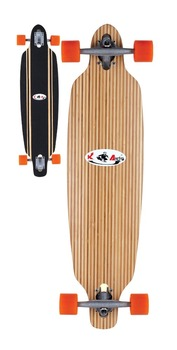 36x9 inch 6ply chinese northeast maple 11ply strip bamboo longboard