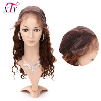 New Fashion 100% Brazilian Human Hair Blonde Curly Lace Wig Natural Hairline Swiss Lace Front Wig With Baby Hair