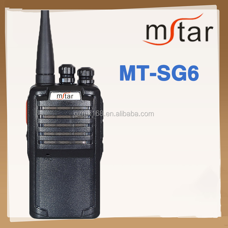 Security guard equipment Mstar MT-SG6 UHF/VHF wirelless walkie talkie for police
