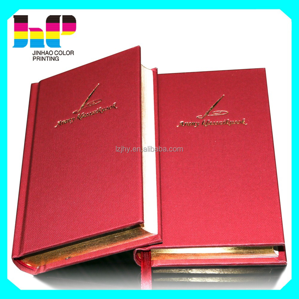 Hardcover leather cover gold tamping notebook printing