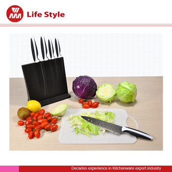5 Pcs non-stick Knife set with black block