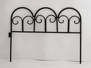 2016 latest new Garden Security Black philippines wrought iron fences designs / steel fence panels / decorative garden fence