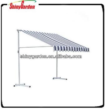 Superior Outdoor Manual Retractable Awning Patio Awning, Portable Awning