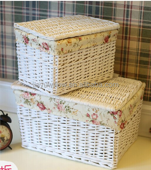 Handmade wicker hamper baskets with lid wicker gift hamper