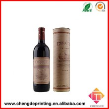 custom round shape 2 bottle cardboard wine carriers