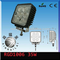 4.6 inch 12v 35w roof light 2300-2500LM 9-32v RGD1006 bus car train tractor led work light