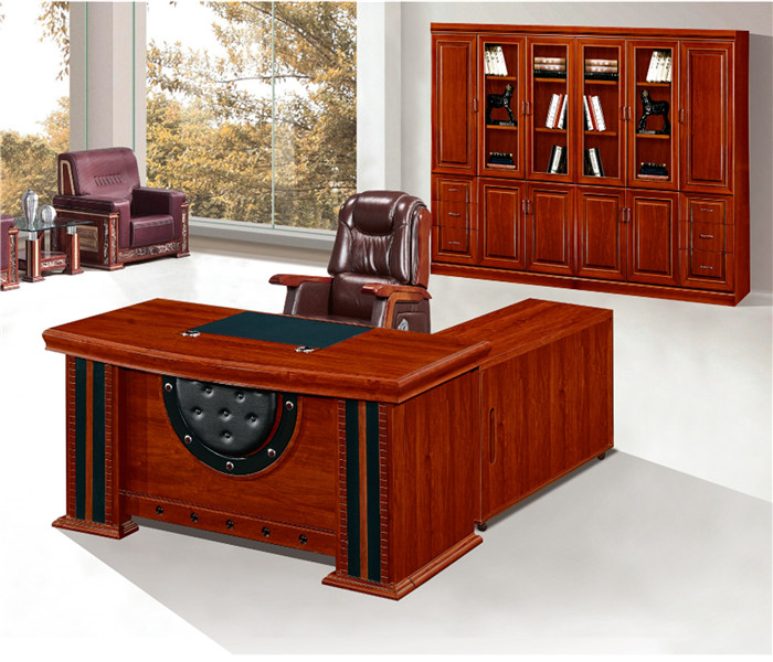 I shaped wooden office counter desk luxury executive wood modern office desk chair furniture l shaped office desk