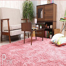 floor tile microfiber polyester shaggy rug display