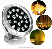 Business industrial ip68 led AC DC 12v 24V RGB wireless control underwater light