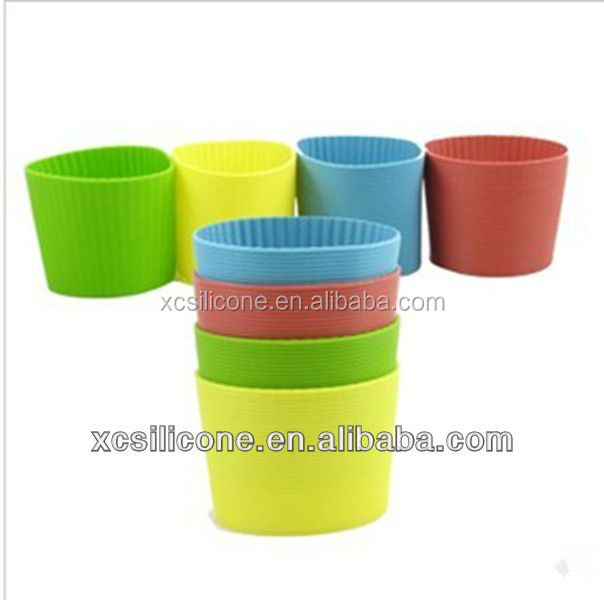 Customized Eco-friendly Silicone Rubber Coffee Cup Sleeve