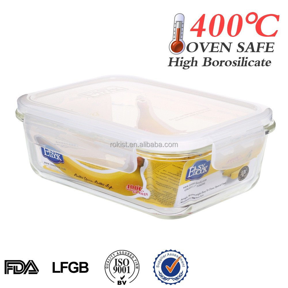 unique products online wholesale heat-resistant microwave glass container food with locks
