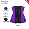 Stylish women waist shaping corset tops supply black training bustier with chains steel boned corset wholesale for women