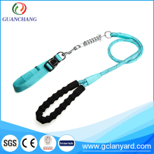 Factory directly round pet strap dog collars leashes with metal parts