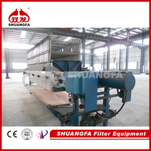 Professional Industrial Wastewater Treatment Chamber Filter Press With Quick Discharge System