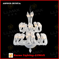 Karme Lumax colored art glass chandelier crystal candle light candle lamp of Simplicity and Modern Style #650171-33L