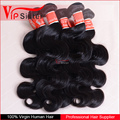 Hot selling! Body wave real pure virgin hair cut from one doner no shedding