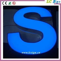 Outdoor large commercial acrylic frontlit channel letter sign/outdoor electronic advertising board