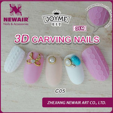 New product wholesale 24pcs easy nails decorated with metal designer press on nails
