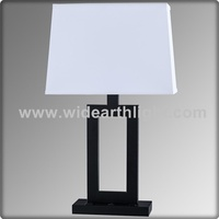 UL CUL Listed Beside Matte Black Table Lamp With USB Port And Outlet T20338