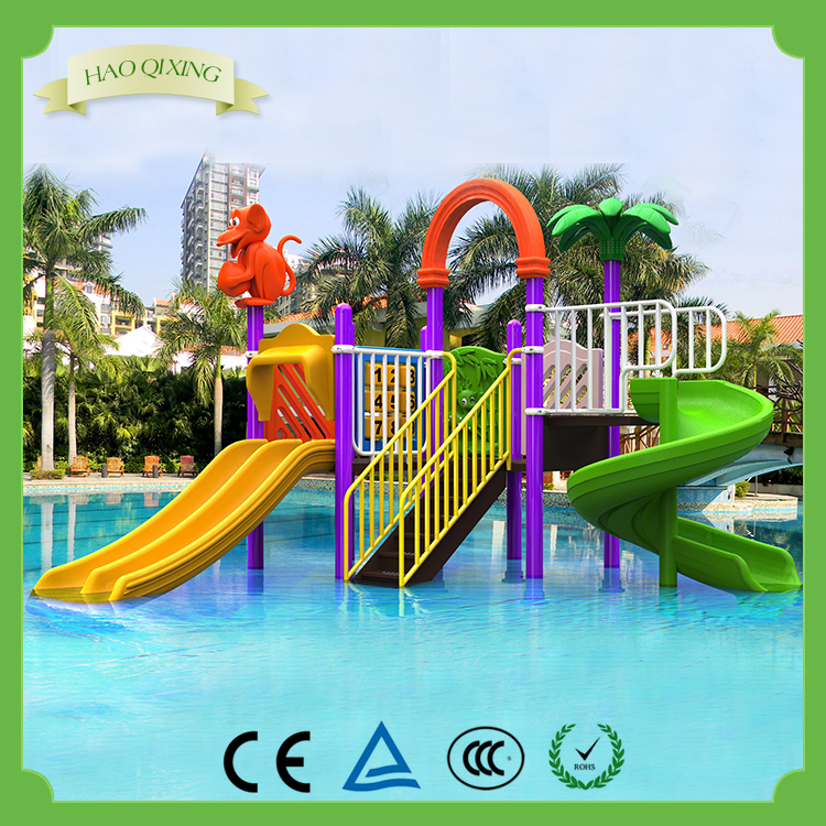 Large water park equipment, children's pool water slide for sale