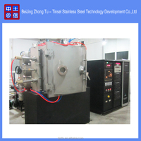 Pvd sputtering tin plate coating machine for coating jewelry, ceramic, plastic