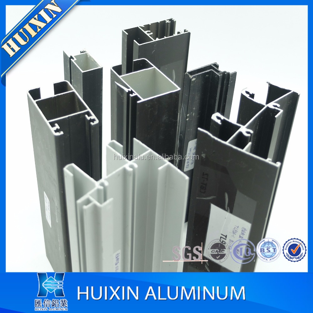 Powder coated aluminum alloy extrusion 6063 for glass