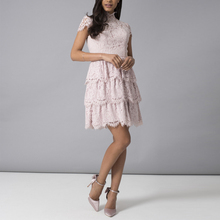 thailand products mini lace dress fabric shoulder sleeve dress