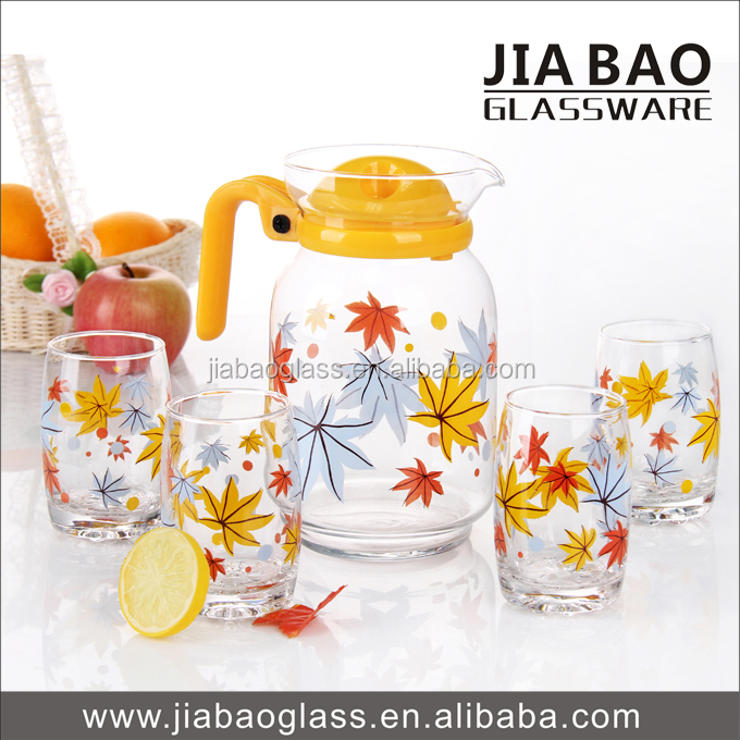 5pcs drinking water glass set, beautiful drinking glass set, colored drinking glass sets