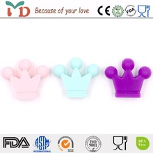 Wholesale safety colorful silicone teether beads