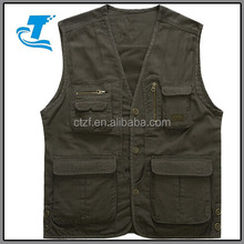 Spring breathable out wear men canvas fishing vest 5xl