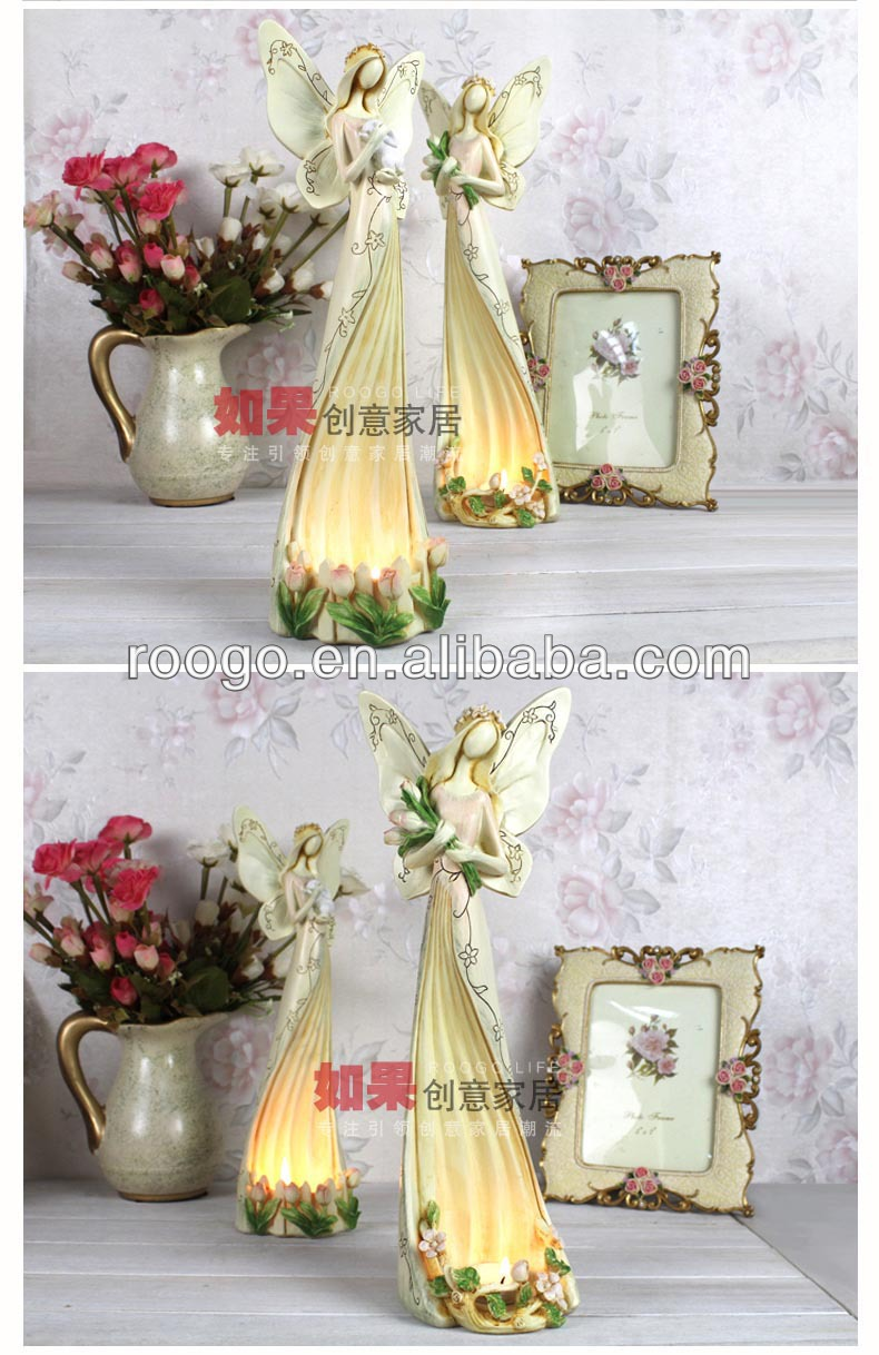 Zakka resin candle holder figurine