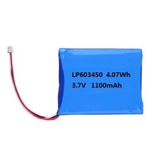 3.7V 603450 1100mah lithium polymer battery for GPS