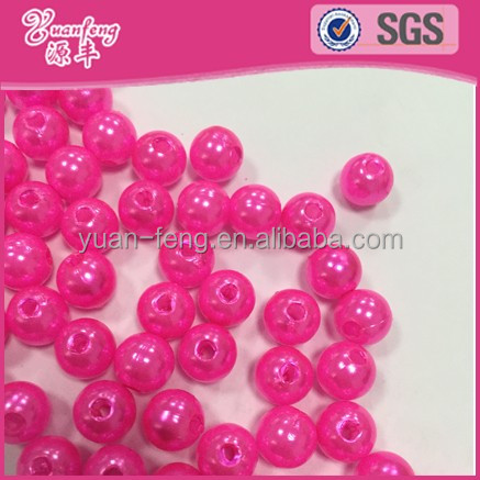 large hole beads 2016 New Fashion Artificial abs plastic loose fake faux pearl beads